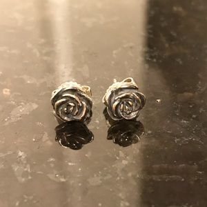 James Avery Rose Ear Posts